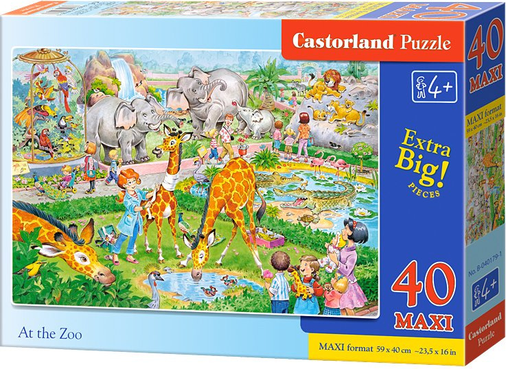 Puzzle Castorland MAXI 40 dílků - ZOO