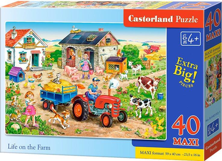 Puzzle Castorland MAXI 40 dílků - Život na farmě