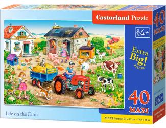 Puzzle MAXI 40dílků Život na farmě