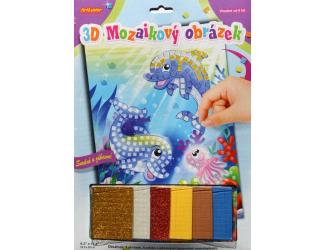 3D mozaikový obrázek - Delfíni