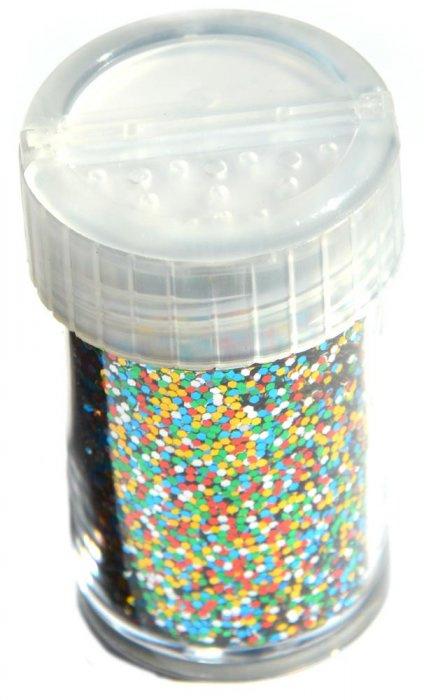 Třpytky, 12 g - barevný mix