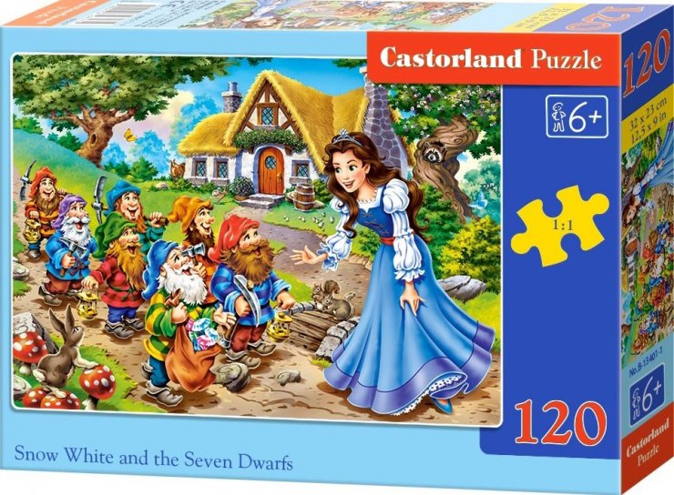 Puzzle Castorland 120 dílků - Sněhurka a sedm trpaslíků