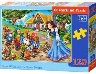 Puzzle 120 dílků - Sněhurka a sedm trpaslíků