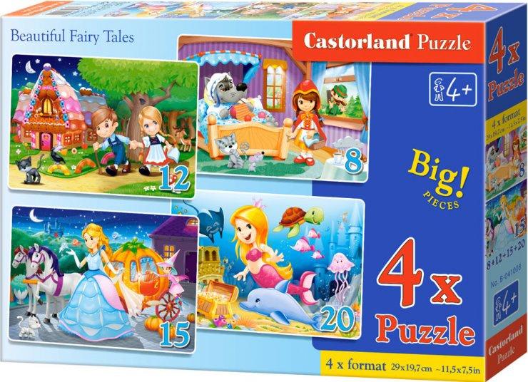Puzzle Castorland sada 4v1 - Pohádky