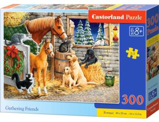 Puzzle 300 dílků- Setkání přátel ve stáji