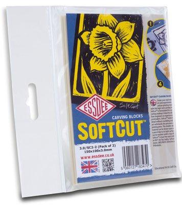 Lino Softcut 15 x 10 cm - 2 ks