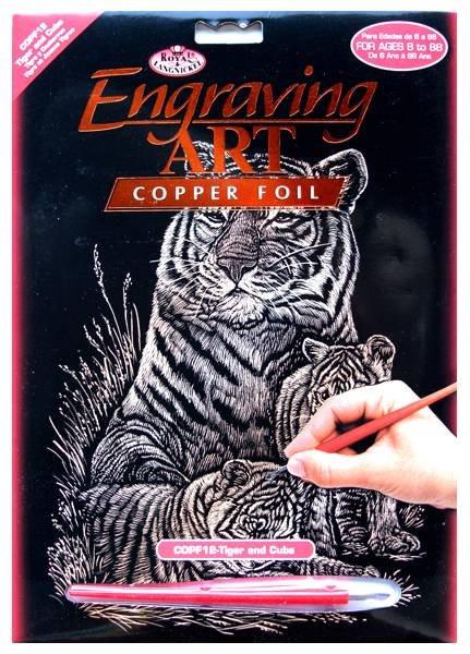 Škrabací obrázek- Tygří rodinka