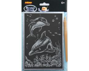 Škrabací obrázek - stříbrný A5 - v balení 24 ks, zadejte počet ks, cena je za jeden kus