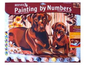 Malování podle čísel- Labradoři