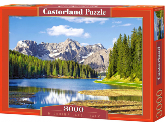 Puzzle 3000 dílků- Jezero Missurina, Itálie