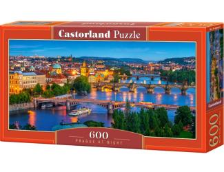 Puzzle 600 dílků - Noční Praha