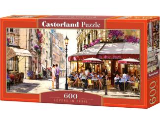 Puzzle 600 dílků - Milenci v Paříži