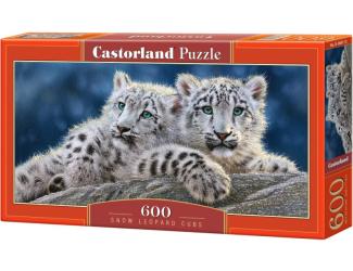 Puzzle 600 dílků - Mláďata leoparda sněžného