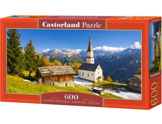 Puzzle 600 dílků - Kostelík Marterle, Carinthia, Rakousko