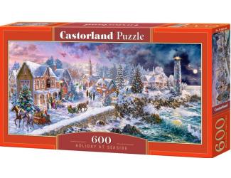 Puzzle 600 dílků - Zimní prázdniny u moře