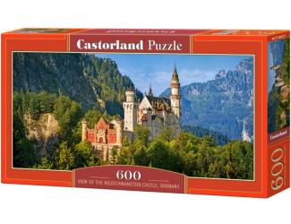 Puzzle 600 dílků - Výhled na Neuschwantein, Německo