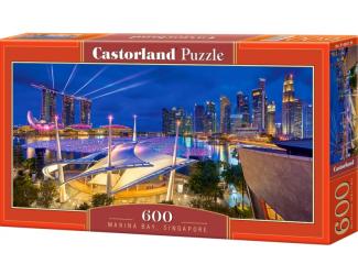Puzzle 600 dílků - Marina bay, Singapore