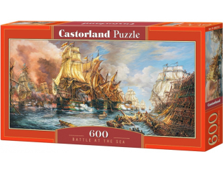 Puzzle 600 dílků - Lodě na moři