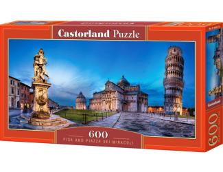 Puzzle 600 dílků - Pisa a Piazza dei Miracoli
