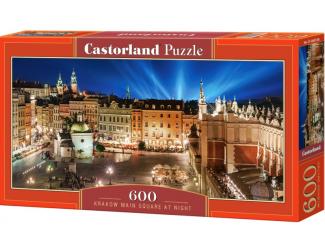 Puzzle 600 dílků - Krakovské náměstí v noci