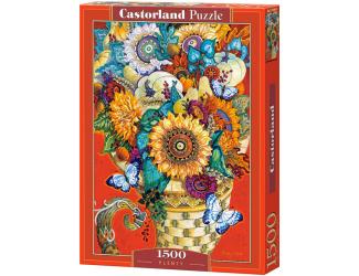 Puzzle 1500 dílků- Malovaná kytice - David Galchutt
