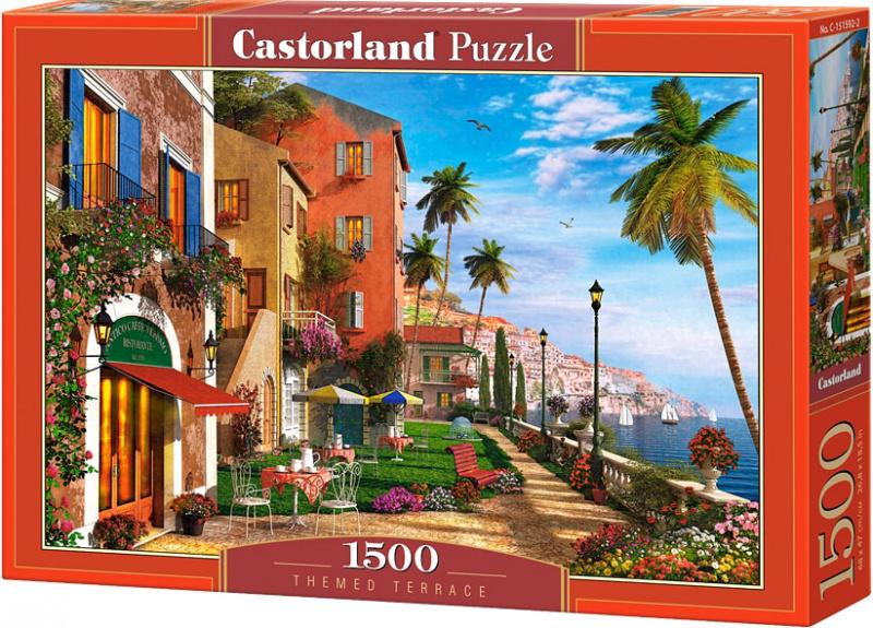 Puzzle Castorland 1500 dílků - Terasa u moře
