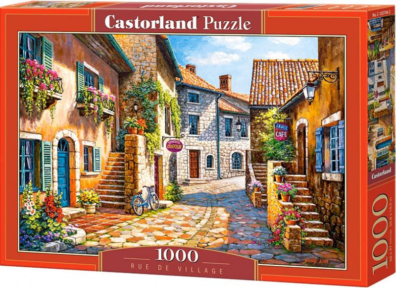 Puzzle Castorland 1000 dílků - Cesta skrz vesničku