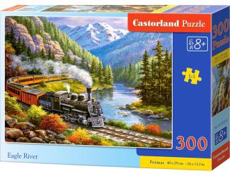 Puzzle 300 dílků- Vlak Eagle River
