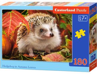 Puzzle 180 dílků - Ježeček v podzimním listí