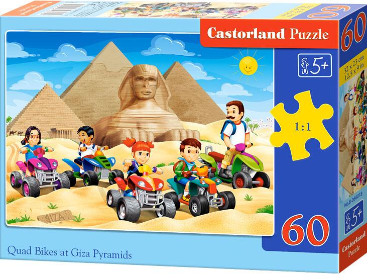 Puzzle Castorland 60 dílků - Na čtyřkolkách k Pyramidám v Gize