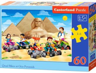 Puzzle 60 dílků- Na čtyřkolkách k Pyramidám v Gize