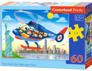 Puzzle 60 dílků- Helikoptérou nad New Yorkem City