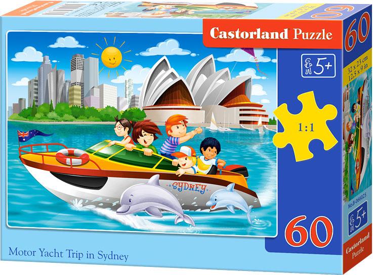 Puzzle Castorland 60 dílků - Výlet po Sydney v motorovém člunu