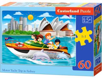 Puzzle 60 dílků - Výlet po Sydney v motorovém člunu