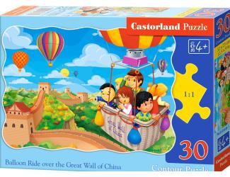 Puzzle Castorland 30 dílků - Balonový let nad Velkou čínskou zdí