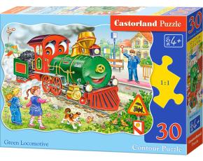 Puzzle Castorland 30 dílků - Zelená lokomotiva