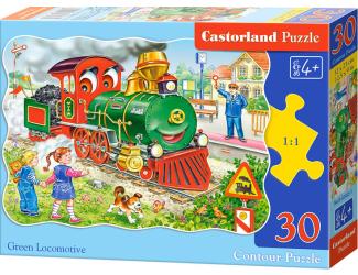 Puzzle 30 - Zelená lokomotiva