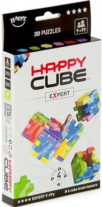 Hlavolam Happy cube Expert 6 ks v balení, obtížnost 9+ let (Marble Cube)