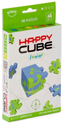 Hlavolamy 6 ks v krabičce, obtížnost 3-7 let Junior