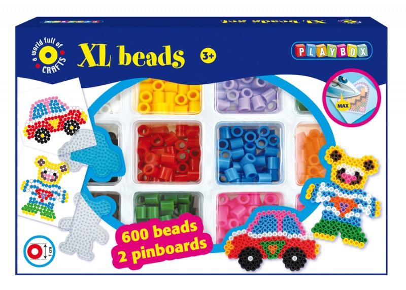 Zažehlovací korálky XL, 600 ks, auto a méďa