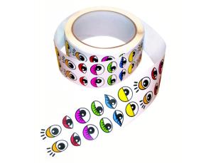 Samolepky oči 2000 ks, barevné
