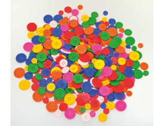 Dřevěné knoflíky - 200 ks, mix velikostí a barev