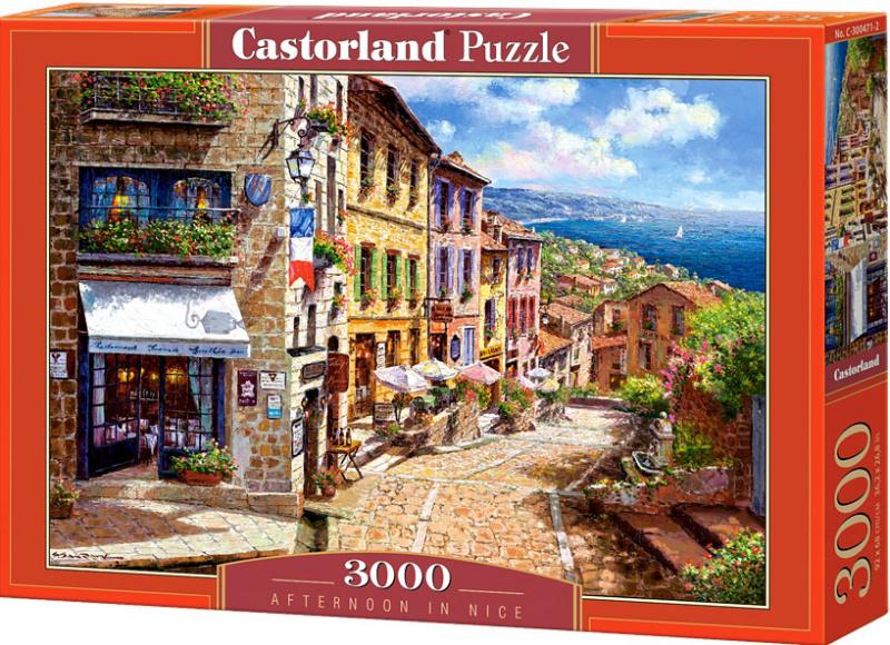 Puzzle Castorland 3000 dílků - Odpoledne v Nice ve Francii