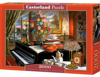 Puzzle 2000 dílků- Černý klavír