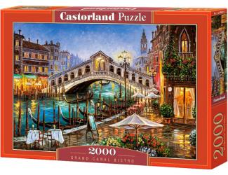 Puzzle 2000 dílků- Bistro u Grand kanálu