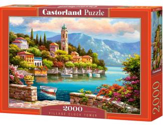 Puzzle 2000 dílků- Přístav a věž s hodinama
