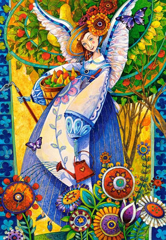 Puzzle Castorland 1000 dílků - Sklízení ovoce andělem