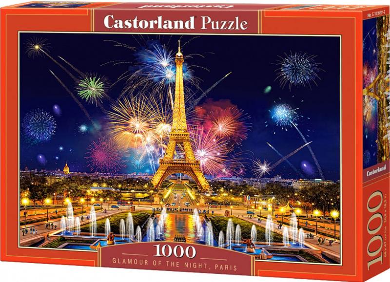 Puzzle Castorland 1000 dílků - Kouzlo noci v Paříži