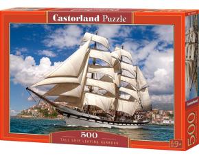 Puzzle Castorland 500 dílků - Loď opouštějící přístav