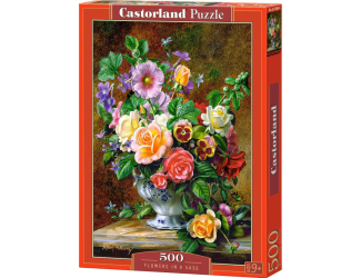 Puzzle 500 dílků-  Váza květin